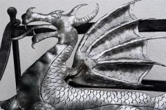 Geschmiedete Drachee - Wappen aus Metall