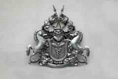 Wappen aus Metall mit Pferden- Jung