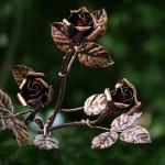 Geschmiedete Rosen kupfer antik