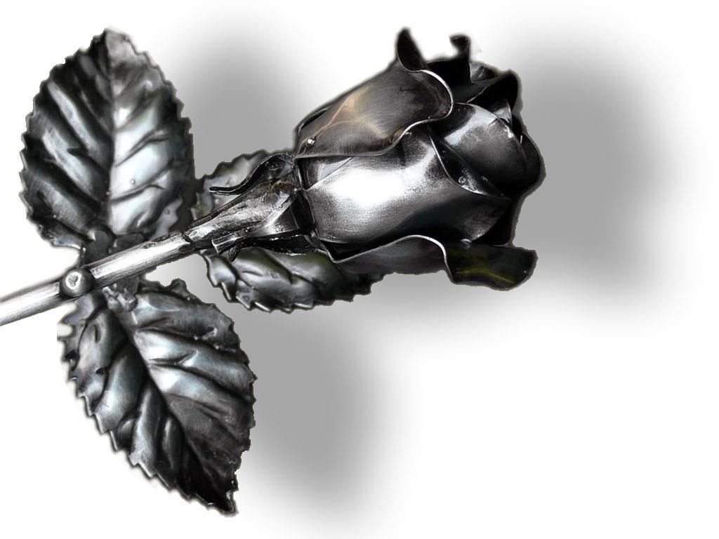 Geschmiedete Rose ( galvanisiert und lackiert )