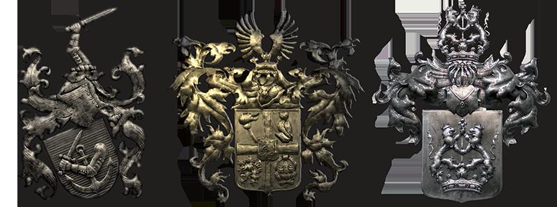 Familienwappen aus Metall - Familienwappen erstellen lassen - Österreich